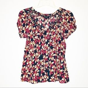 Lucky Brand Womens Peasant Top Floral